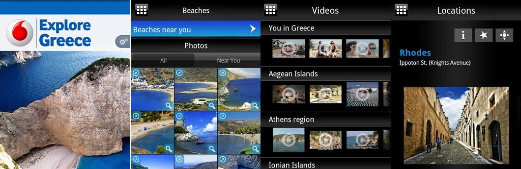 Vodafone Explore Greece free smartphone travel app