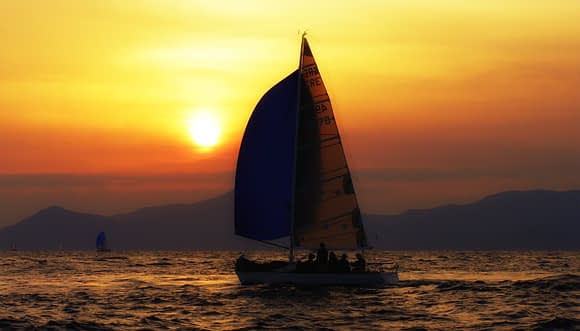 Sailing in Rhodes